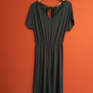 NWT wide leg turquoise romper size large